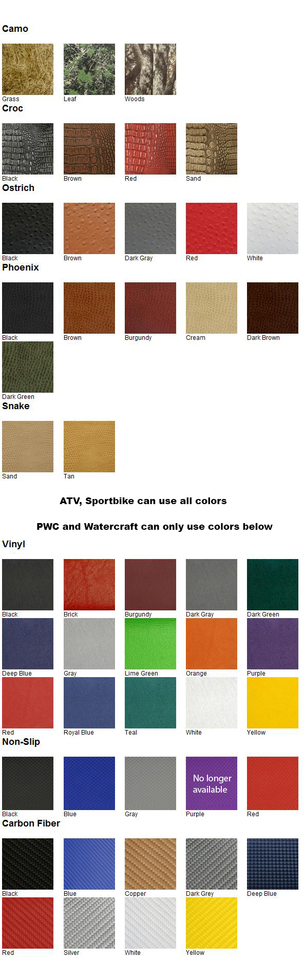 htmoto color chart